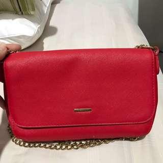 Bershka red bag