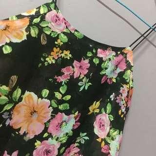Strap Floral Blouse