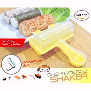 Japanese Sushi Rice Roll Shakers (Set of 2) with free utility brush!