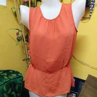 H&M TOP ORANGE