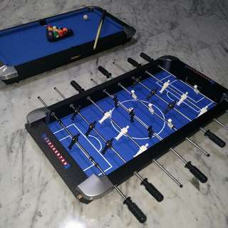 Table top billiard snooker and soccer 3 ft