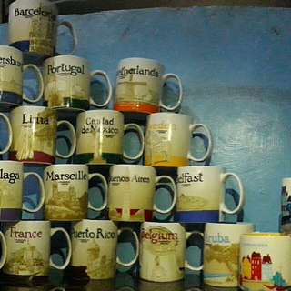 starbucks mug collection from different country around the world