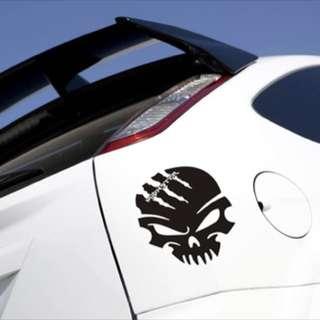 Fuel tank cap skull sticker