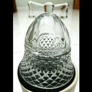 Glass jar for knick-knacks, tealights or other decorations