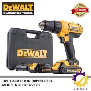 DEWALT 18V DRILL DRIVER 1.3AH – DCD771C2