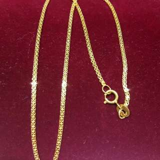 "18k saudi anklet 10"" yellow gold"