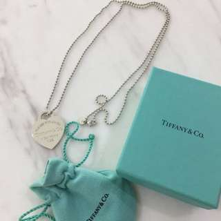 Tiffany and Co Heart Tag Necklace