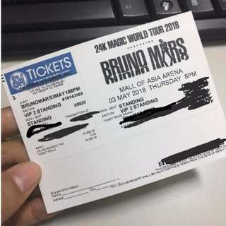 Bruno Mars 24k Magic Tour VIP ticket