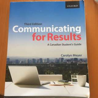 Communicating for Results : A Canadian Student's Guide