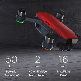 DJI Spark FLY MORE COMBO WHITE RED BLUE GREEN YELLOW