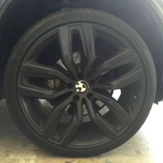"""BMW X5/X6 22"""" Rims And Tyres"""