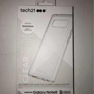 出售全新名牌 Tech21 SAMSUNG Galaxy Note8 透明機殼