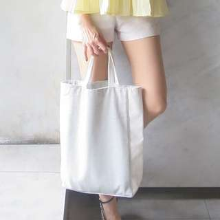 White tweed bag