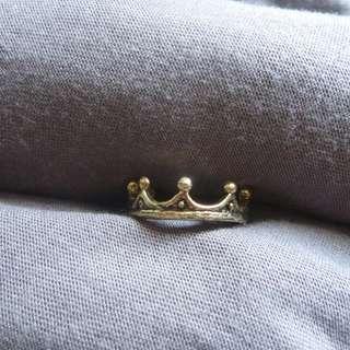 啞色金戒指