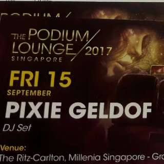 1 pair F1 Podium Lounge party tickets