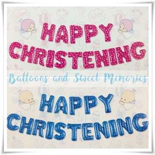 HAPPY CHRISTENING Letter Set