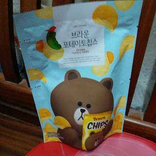 line熊大薯片