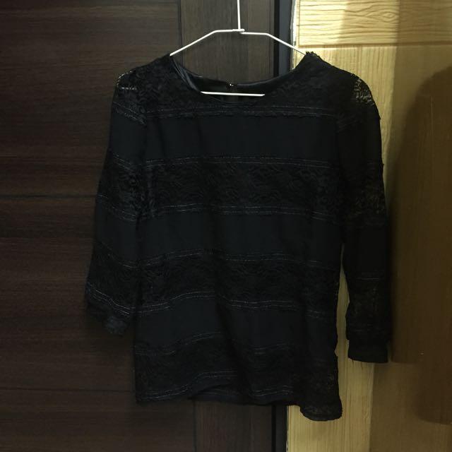 轉賣 韓 dobe蕾絲上衣