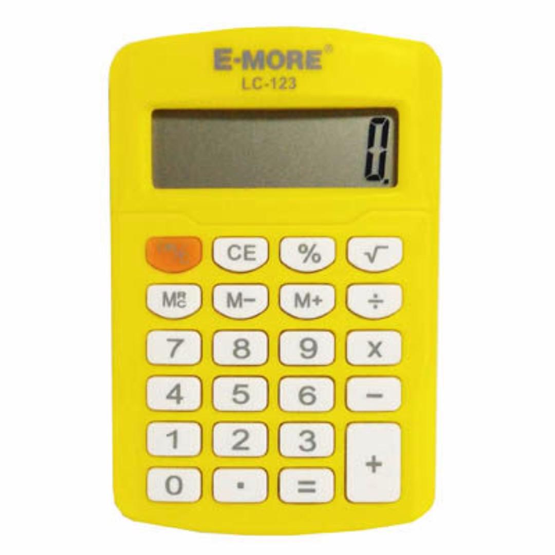 考試專用 E-MORE -LC-123 彩色計算機 8位數