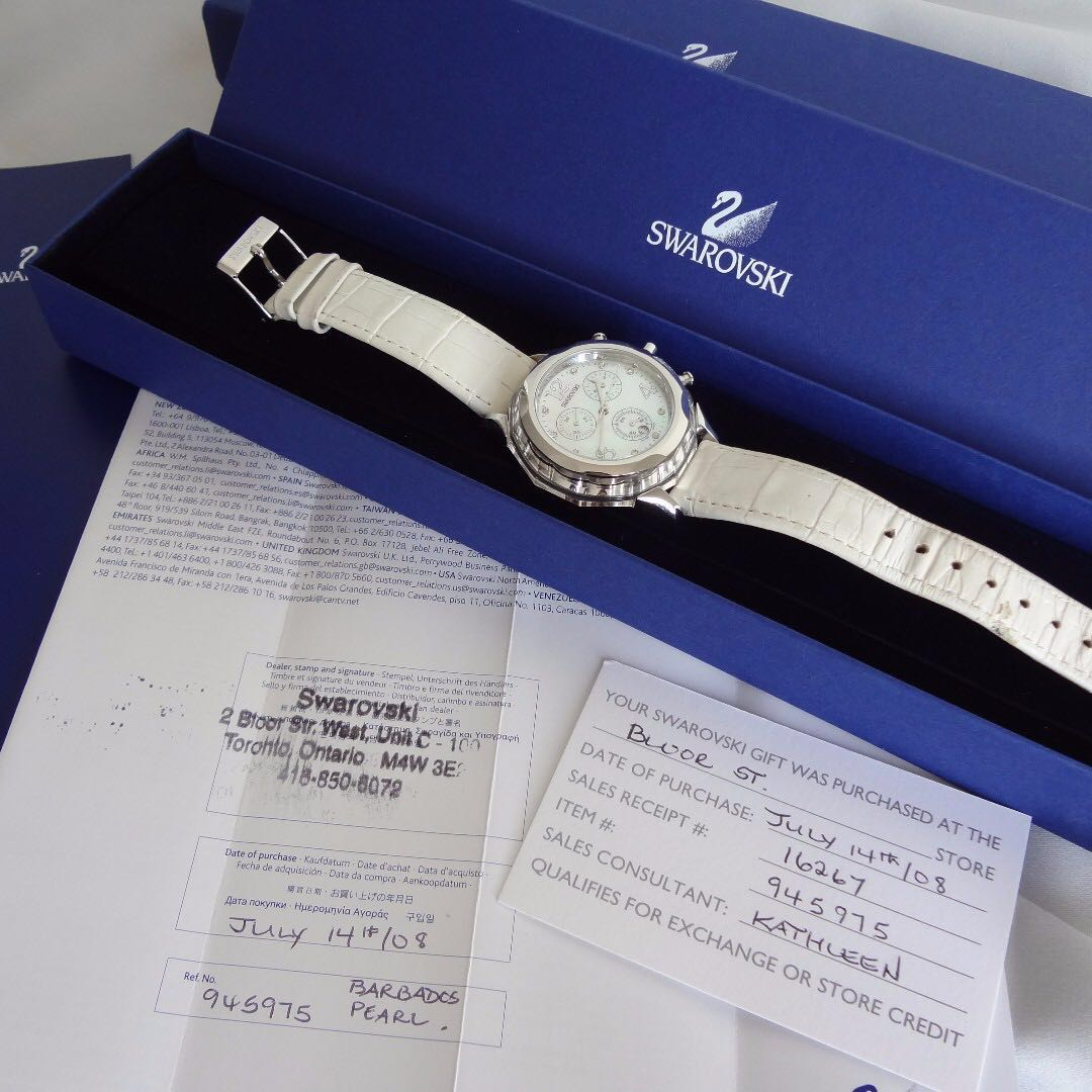 ❤ Swarovski Barbados Crystal Watch with box & certificate ❤ MINT Condition ❤Retail $500+❤ ★ MARKHAM