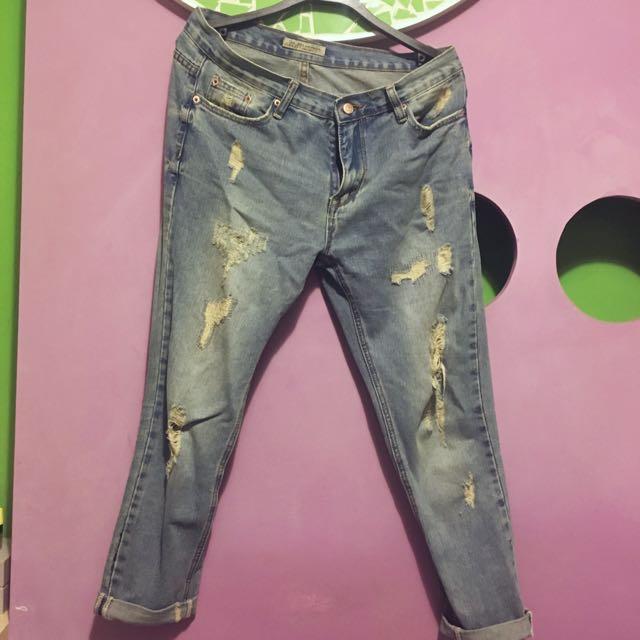 牛仔男友褲 XL