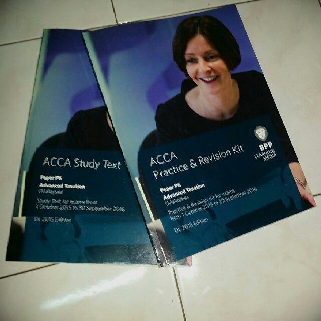 ACCA P6 (Malaysia) Text Book& Revision Kit, Buku di Carousell