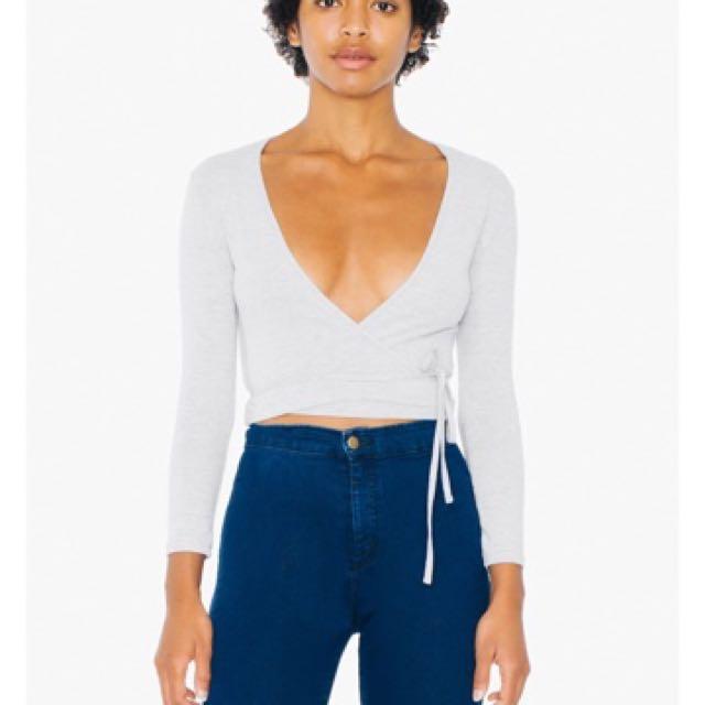American apparel crop top xs