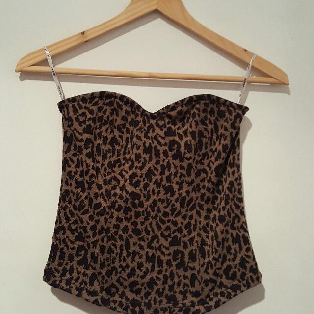 Animal print corset top