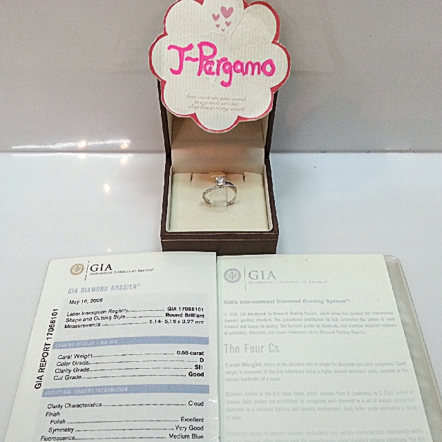 Authentic GIA Cert Solitaire Diamond Ring {{ Only For Sale }} *** No Trade ***  {{ Fixed Price Non-Neg Please }}