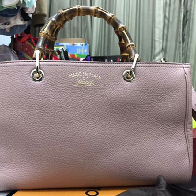 4978036228 Authentic Gucci Bamboo shopper medium