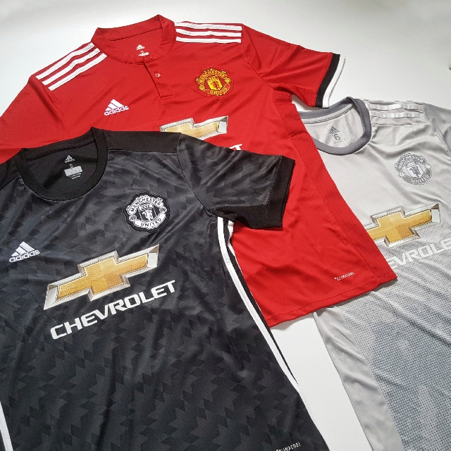 official photos 4c4ea 4e403 BEST $7/$22] MANCHESTER UNITED 17-18 KIT HOME AWAY THIRD ...