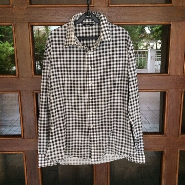 Black & White Checkered Longsleeve
