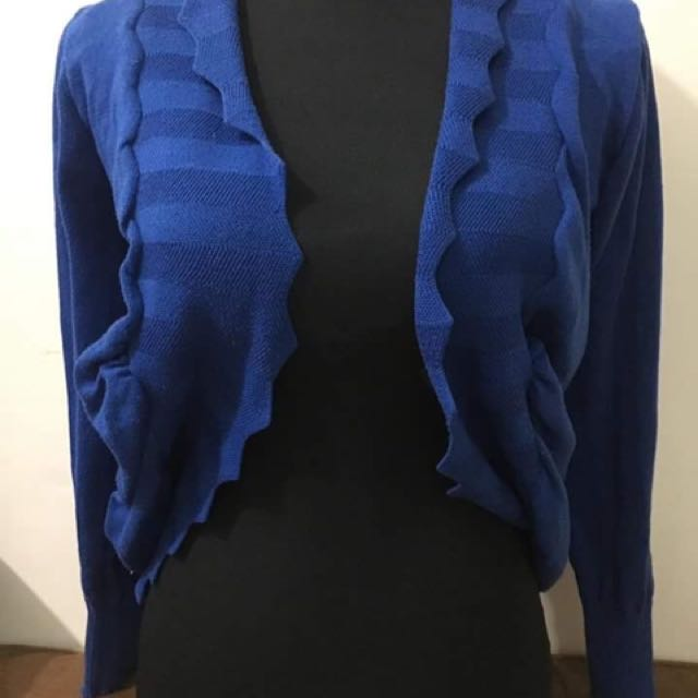 Blue Knitted Cardigan