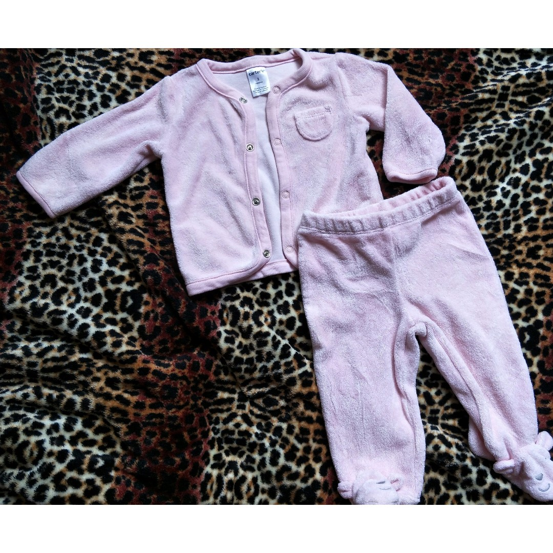 Carters baby pink terno