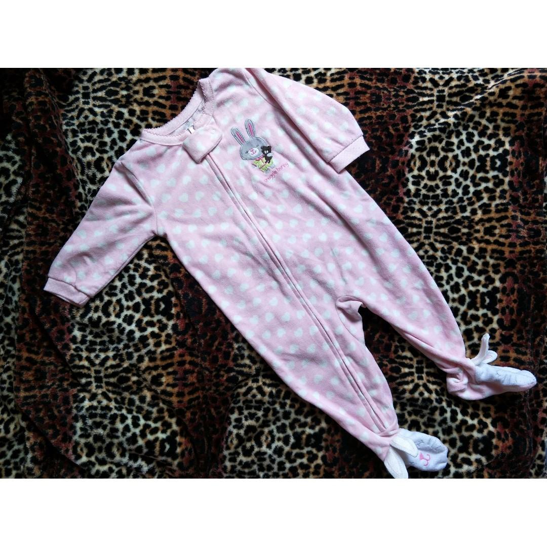 Carters rabbit pink jumpsuit