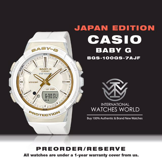 52d09e1e926 CASIO JAPAN EDITION STEP TRACKER BABY G BGS-100GS-1AJF  BGS-100GS ...
