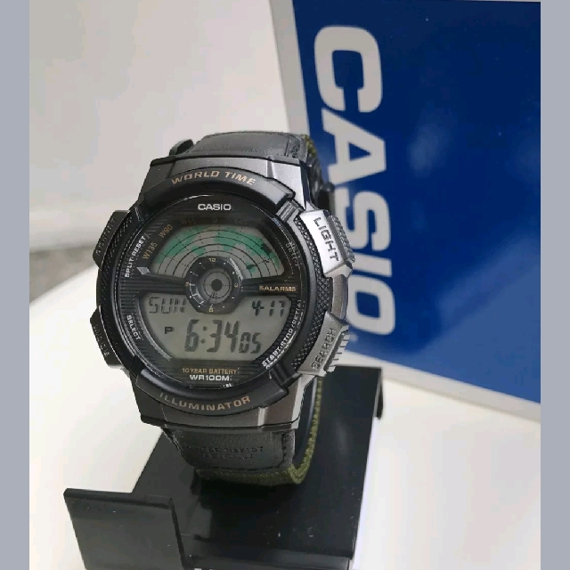 Casio World Map Watch.Repriced Casio Watch Ae1100wb 3a World Map Men S Fashion