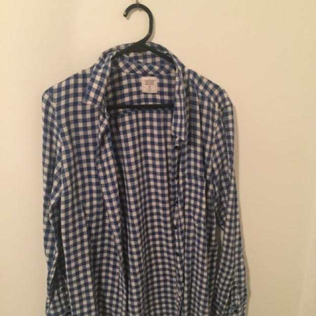 Checkered Shirt Blue Size 12