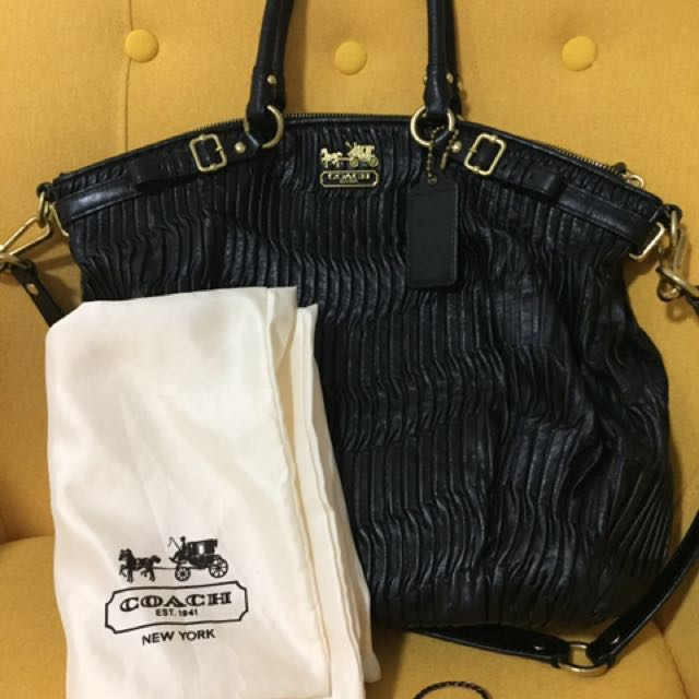 22b917c19841 ... cheap coach satchel coach madison gathered leather lindsey satchel bag  coach bag 18643 luxury bags wallets ...
