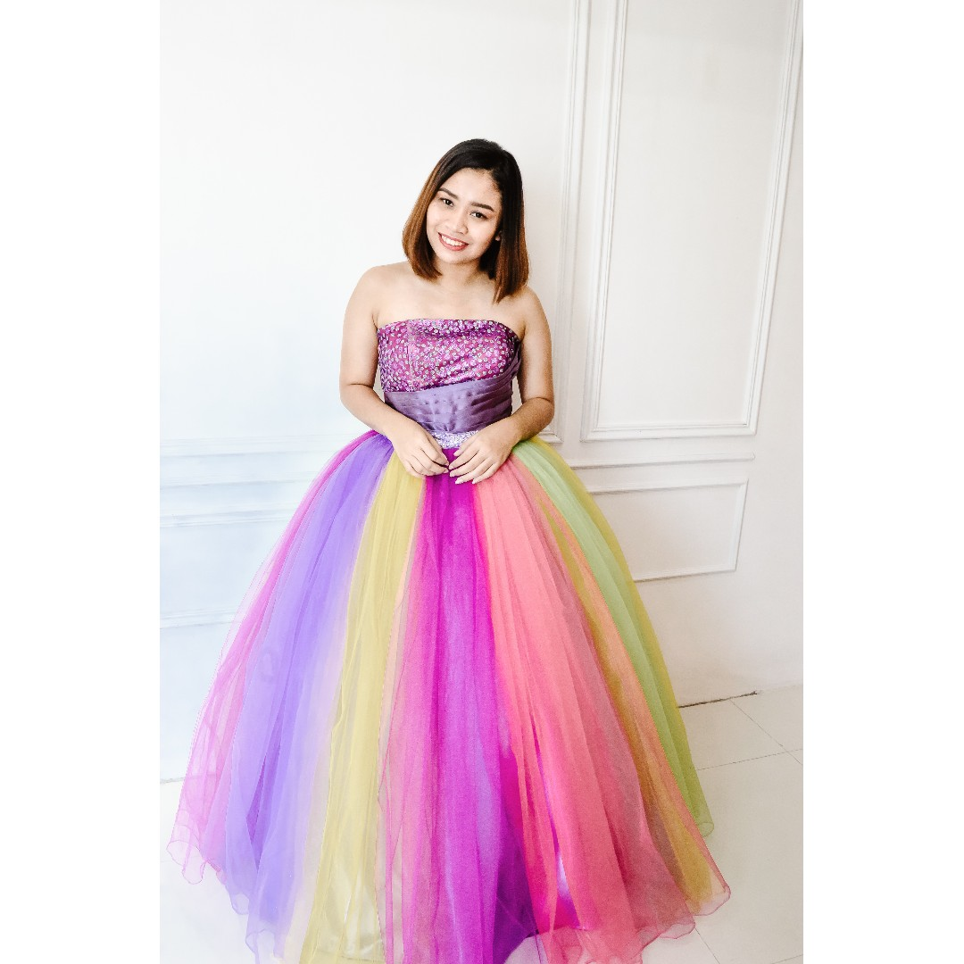 Colourful duo style debut ball gown preloved womens fashion photo photo photo photo ombrellifo Choice Image