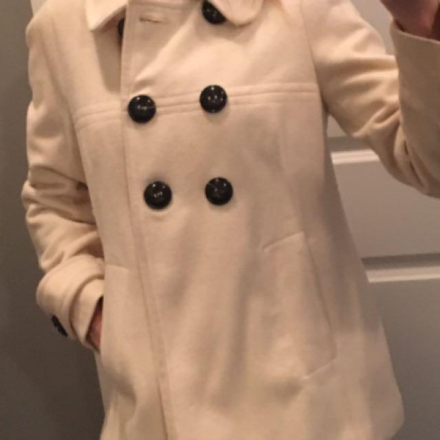 Cream fall/winter coat