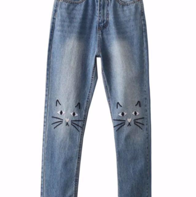 Cute Cat Jeans