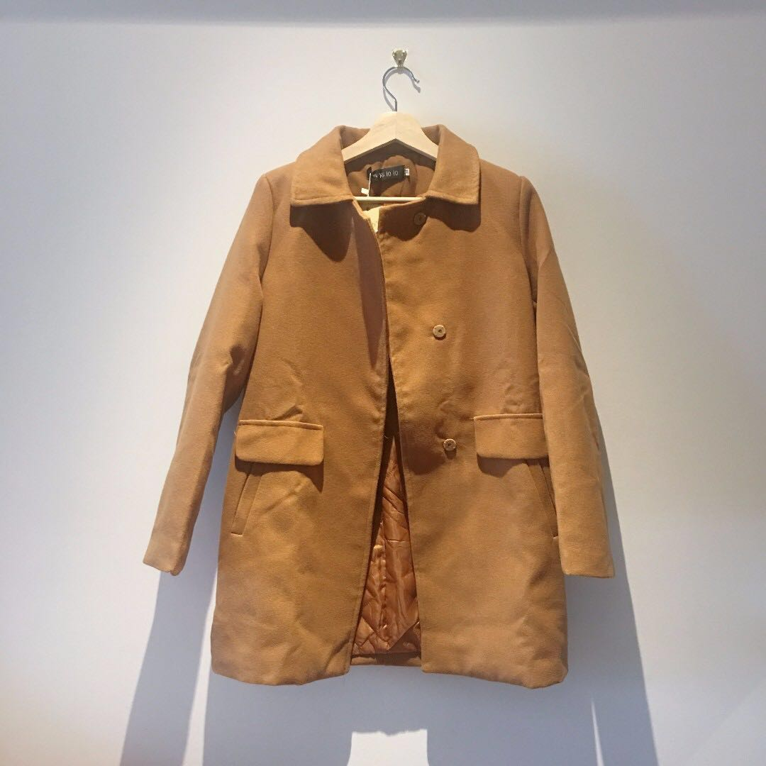 "Double Wool Long Coat ""Camel"""