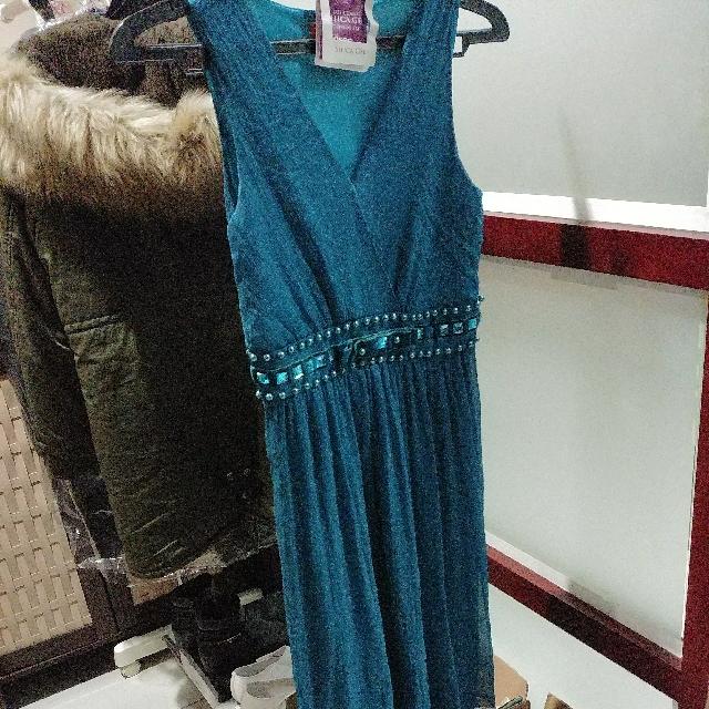 Dress Hijau Tosca #sss