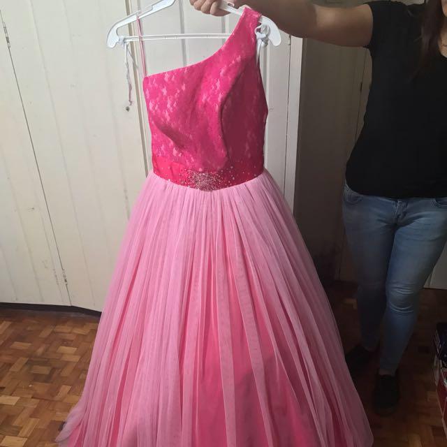Elizabeth Princess Gown (Medium Size, Color:  Fuchsia Pink)