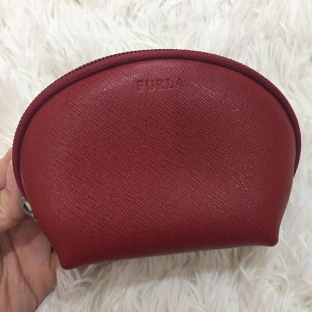 Free 📮:🆕Furla Cherry Leather 'Matrioska' Small Cosmetic Bag