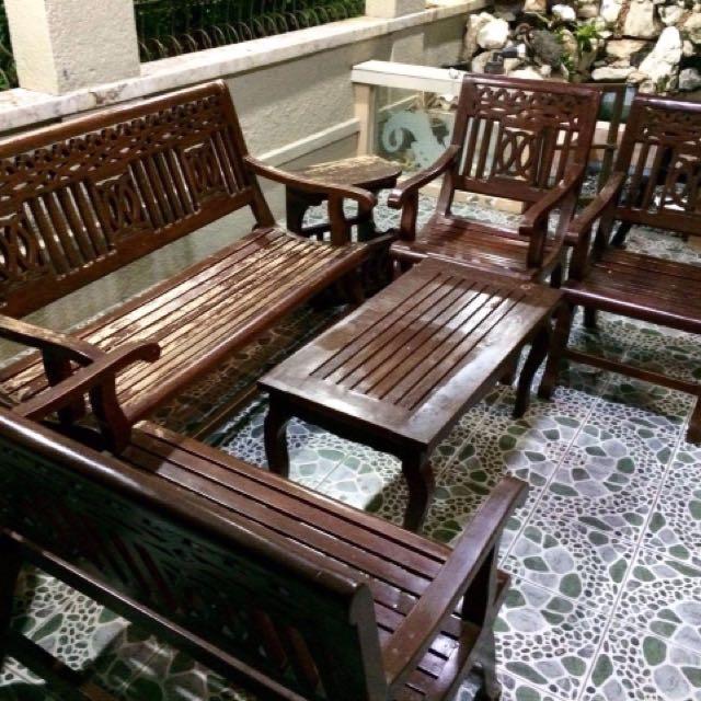 Gmelina Solid Wood Sala Set Home Furniture On Carousell