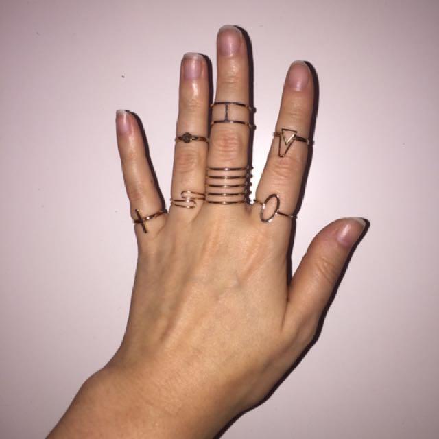 Gold Aldo Ring Set
