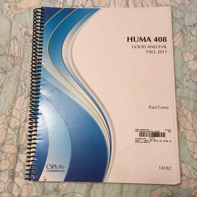 Good and Evil (huma 408) textbook