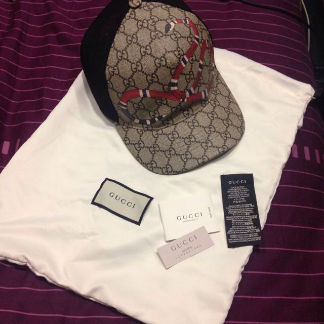 ddfc1087 Gucci Snake Cap, Luxury, Apparel on Carousell